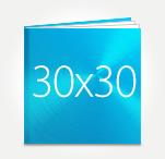 Печать Принтбук ROYAL в твердой персональной обложке 30х30 (металлик)
