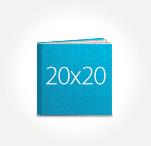 Печать Принтбук ROYAL в твердой персональной обложке 20х20 (шёлк)