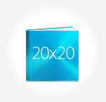 Печать Принтбук ROYAL в твердой персональной обложке 20х20 (металлик)