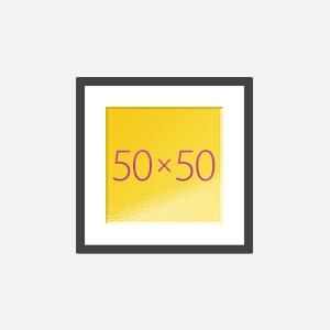 Печать Картина с паспарту 50х50