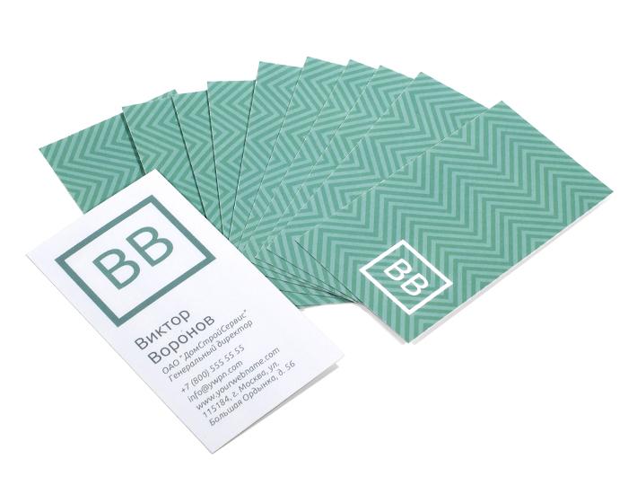 Комплект визиток (100 шт.)<br>
