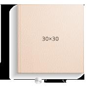 Печать Принтбук ROYAL в бежевой кожаной обложке 30х30 (металлик)