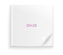 Печать Фотокнига Премиум в мягкой обложке 20х20