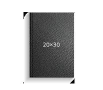 Печать Принтбук ROYAL в черной кожаной обложке 20х30