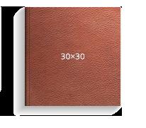 Принтбук ROYAL в коричневой кожаной обложке 30х30<br>
