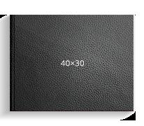 Принтбук ROYAL в черной кожаной обложке 40х30<br>