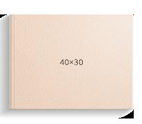 Принтбук ROYAL в бежевой кожаной обложке 40х30<br>