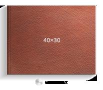 Принтбук ROYAL в коричневой кожаной обложке 40х30 (металлик)<br>