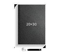 Печать Принтбук ROYAL в черной кожаной обложке 20х20 (металлик)