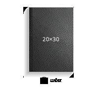 Принтбук ROYAL в черной кожаной обложке 20х30 (шелк)<br>