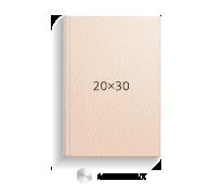 Принтбук ROYAL в бежевой кожаной обложке 20х30 (металлик)<br>