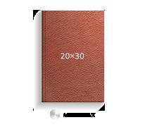 Принтбук ROYAL в коричневой кожаной обложке 20х30 (металлик)<br>