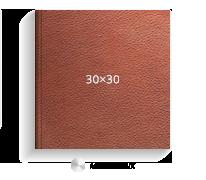 Печать Принтбук ROYAL в коричневой кожаной обложке 30х30 (металлик)