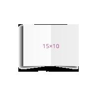 Печать Открытка складная 15х10