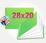 Печать Принтбук Премиум в твердой персональной фотообложке 28х20