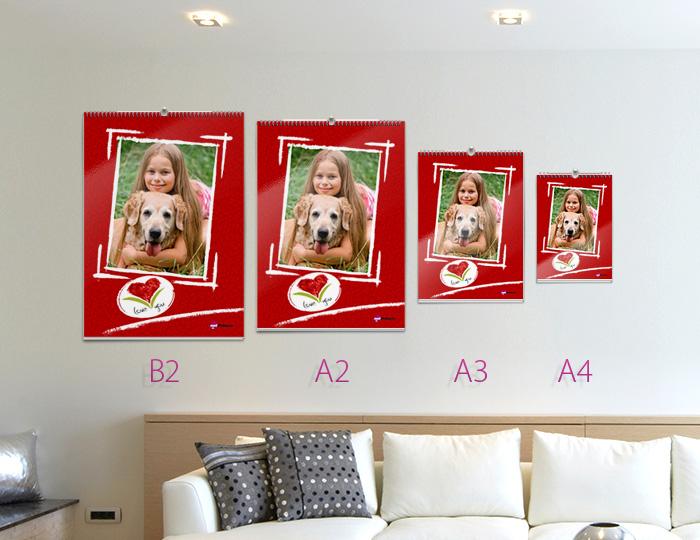 Печать календарей с фото в формате А3 Премиум с плотными страницами