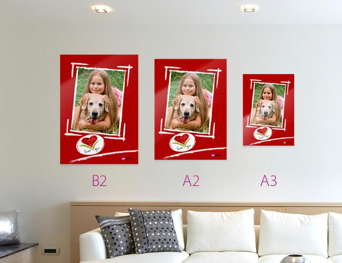 Постер или календарь со своим фото на плотной бумаге в формате А3 Премиум