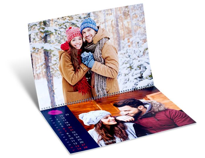 Вы можете сделать фотокалендарь онлайн в Санкт-Петербурге в формате А2 на netprint