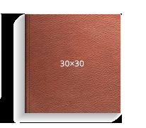 Принтбук Премиум в обложке из искусственной кожи 30х30, коричневый