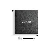 черная кожа, 20х20 (металлик)
