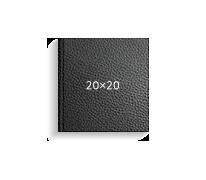 Принтбук ROYAL в черной кожаной обложке 20х20