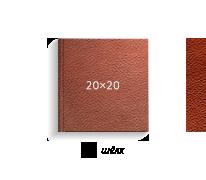 Принтбук ROYAL в коричневая кожаной обложке 20х20 (шелк)