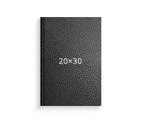 Принтбук ROYAL в черной кожаной обложке 20х30