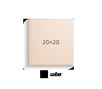Принтбук ROYAL в бежевой кожаной обложке 20х20 (шелк)