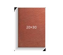 Принтбук ROYAL в коричневой кожаной обложке 20х30