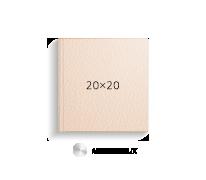 Принтбук ROYAL в бежевой кожаной обложке 20х20 (металлик)