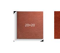 Принтбук ROYAL в коричневой кожаной обложке 20х20