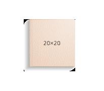 бежевая кожа, 20х20