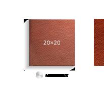 Принтбук ROYAL в коричневой кожаной обложке 20х20 (металлик)