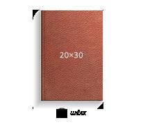 Принтбук ROYAL в коричневой кожаной обложке 20х30 (шелк)