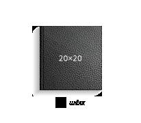 Принтбук ROYAL в черной кожаной обложке 20х20 (шелк)
