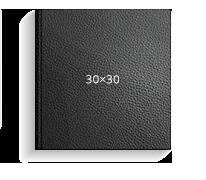 Принтбук ROYAL в черной кожаной обложке 30х30