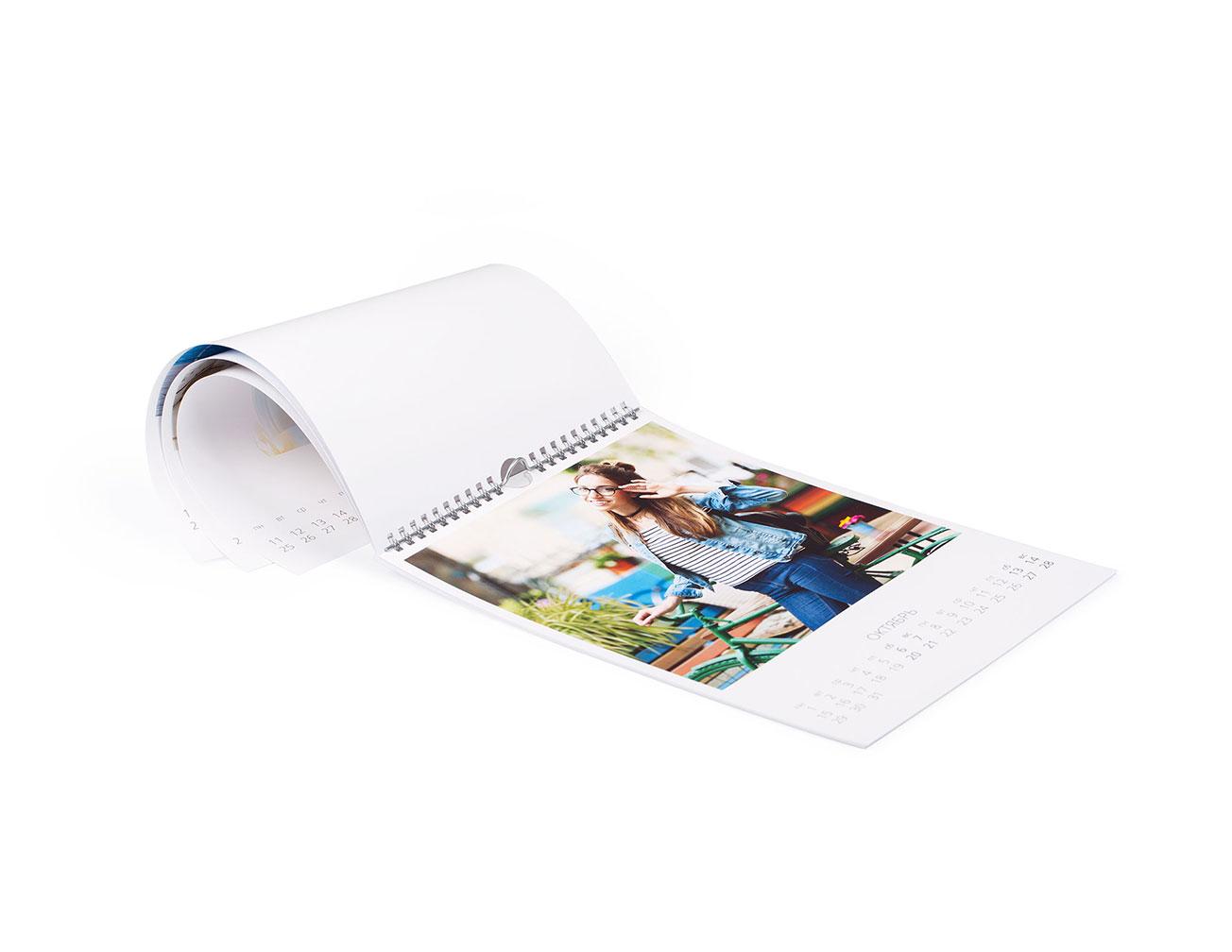 Заказать фотокалендарь А4 на стену домой или в офис