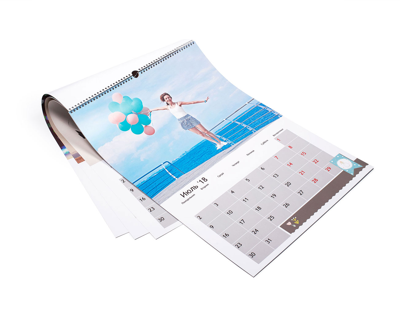 Календарь с фото перекидной А2: изготовление и печать на заказ в NetPrint