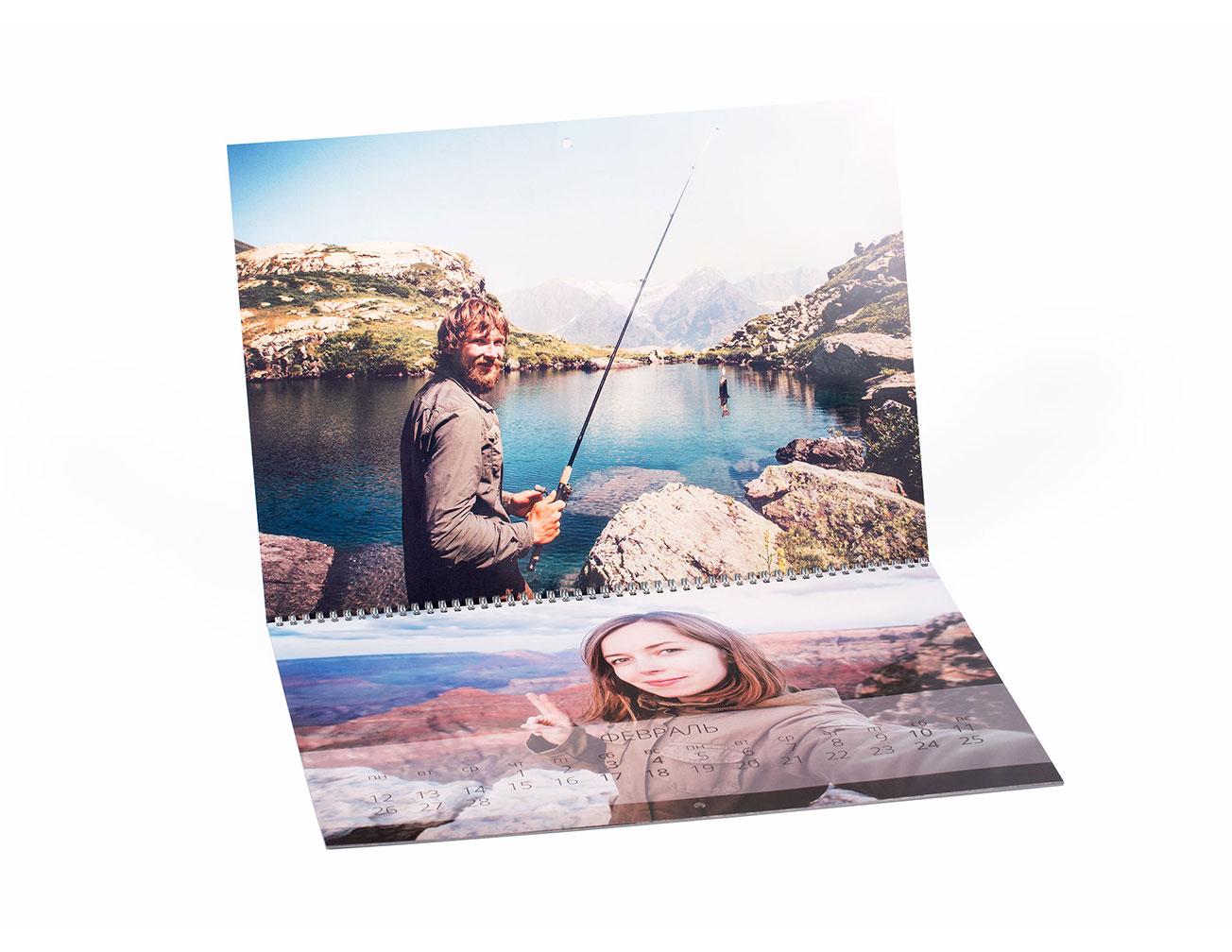Календарь с фото раскладной А2: изготовление и печать на заказ в NetPrint
