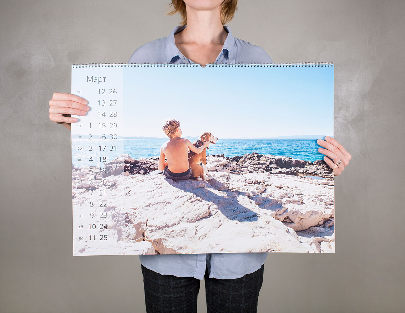 Календарь с фото перекидной В2: изготовление и печать на заказ в NetPrint