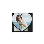 Магнит 10х10 виниловый (сердце)
